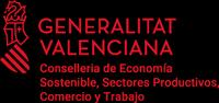 Logotipo Generalitat Valenciana - Consellería de Economia sostenible, secotres productivos, comercio y trabajo